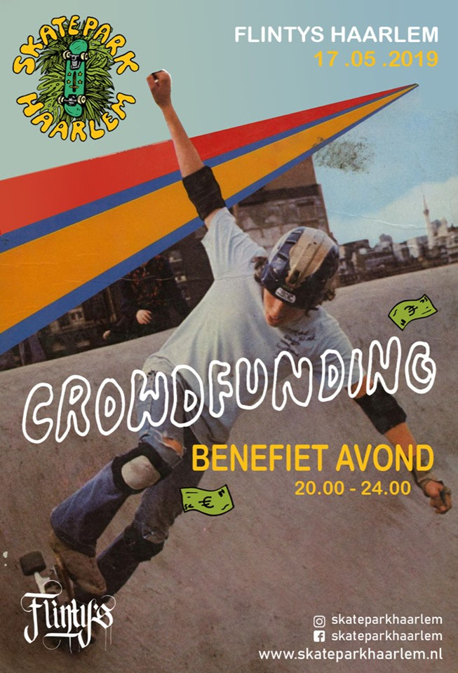 Flintys Crowdfunding Night Skatepark Haarlem flyer